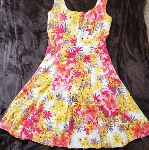Jones wear dress bright floral sundress